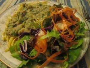 WhiteBeanSauce&Salad